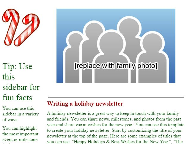 Templates For The Holidays | The Online Mom