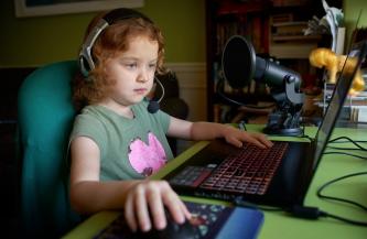 little girl online